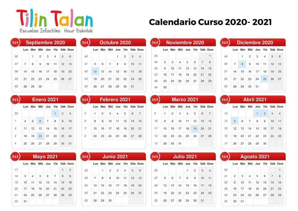 Calendario-curso-2020-2021
